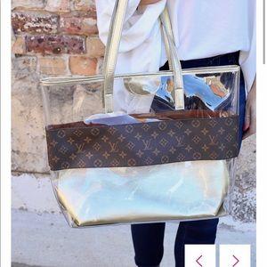 Repurposed Louis Vuitton bag.
